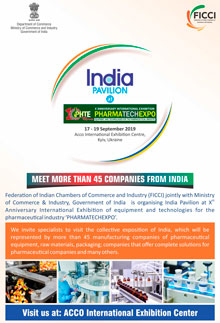 The official opening of the Indian pavilion at the PHARMATechExpo 2019